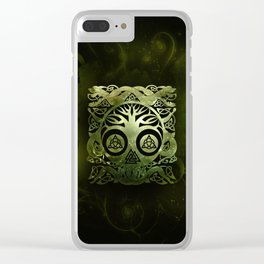 Tree of life - Yggdrasil  and celtic animals Clear iPhone Case
