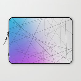 Minimal Thin Line with Blends of Cyan Magenta and White Laptop Sleeve