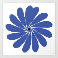 Blue  Dazzle Art Print