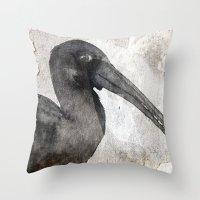 birdy Throw Pillows featuring Birdy by Linnea Frank