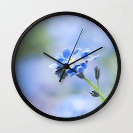 Forget-me-not in LOVE - Springflower Flowers Floral on #Society6 Wall Clock