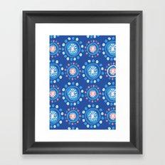 Bubbly Pattern Framed Art Print