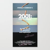 2001 a space odyssey Canvas Prints featuring 2001: a space odyssey by Lucas Preti