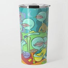 Metaphor For Visual Consumerism Travel Mug