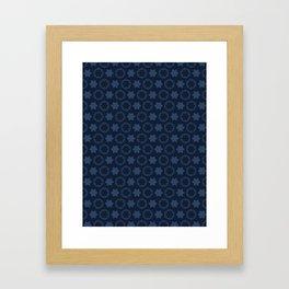 Hexagon Stars Texture  Drawn Starry Ornament Framed Art Print