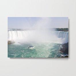 Boat and Horseshoe Falls from Niagara Falls Metal Print