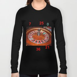 Wooden Roulette wheel casino gaming Long Sleeve T-shirt