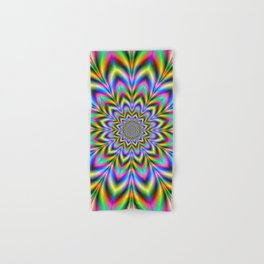 Psychedelic Flower Hand & Bath Towel