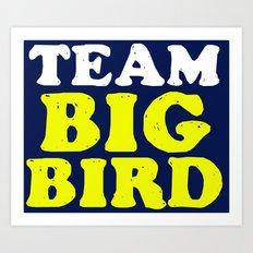Team Big Bird Art Print