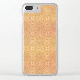 Indian Summer Mandala Copper Clear iPhone Case