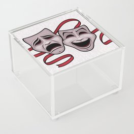 Comedy And Tragedy Theater Masks Acrylic Box