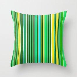 GREEN SPRING STRIPES Throw Pillow