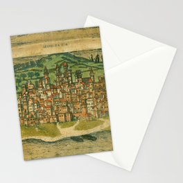 Map Of Mombasa 1572 Stationery Cards