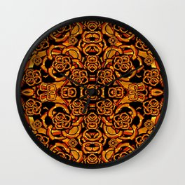 Futuristic Arabesque Pattern Wall Clock