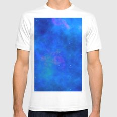 galactic and way White MEDIUM Mens Fitted Tee
