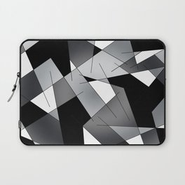 ABSTRACT LINES #1 (Black, Grays & White) Laptop Sleeve