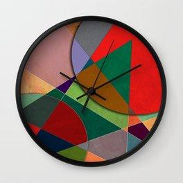 Abstract #327 Listening to Joni Mitchell Wall Clock