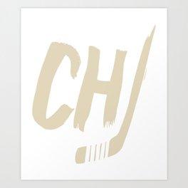 Blackhawks CHI Hockey Art Print