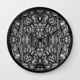 Roller Coaster Black and White Wall Clock