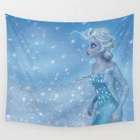 elsa Wall Tapestries featuring Elsa by PrintsofErebor