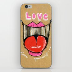 Love smile : Love Yourself iPhone & iPod Skin