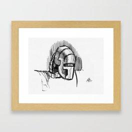 Warbot Sketch #068 Framed Art Print