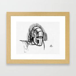 Warbot Sketch #068 Framed Art Print