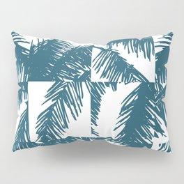 Palm Leaf Pattern Blue Pillow Sham