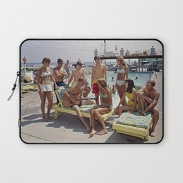 1960's Teenagers playing the guitar by the Gondolier Motel pool in Wildwood, NJ Laptop Sleeve