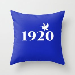1920 Blue Dove Throw Pillow