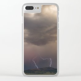 Yellowstone National Park - Sunset storm over the Washburn Range Clear iPhone Case