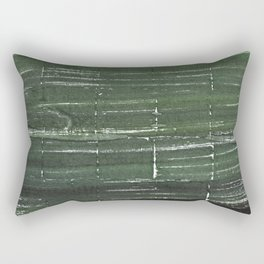 Kombu green abstract watercolor background Rectangular Pillow