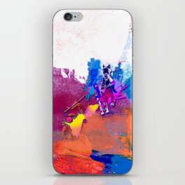 polo abstract red blue iPhone Skin