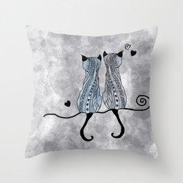 Cat duo 2 Throw Pillow