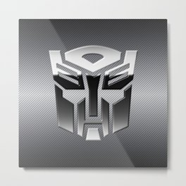 Autobot Steel Chrome Metal Print
