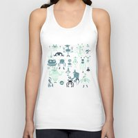 monsters Tank Tops featuring Monsters! by Fran Court