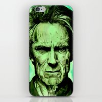 clint eastwood iPhone & iPod Skins featuring Clint Eastwood by Jason Hughes