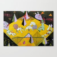 plain Canvas Prints featuring space plain by Kira Leigh