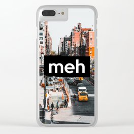 City Life... meh Clear iPhone Case
