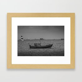 The old fisherman boat Framed Art Print