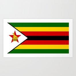 Flag of Zimbabwe Art Print