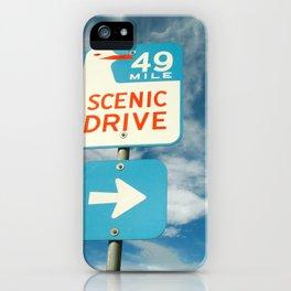 49 mile scenic drive iPhone Case