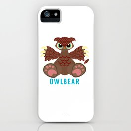 Owlbear iPhone Case