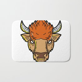 European Bison Mono Line Art Bath Mat