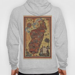 Map of Madagascar 1952 Hoody