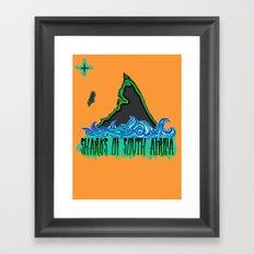 Sharks Of South Africa Framed Art Print