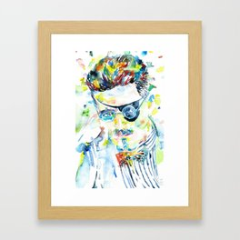 JAMES JOYCE - watercolor portrait.5 Framed Art Print