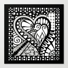 Abstract heart doodle Canvas Print