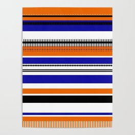 SSLICEE - Stripe, Lines, Orange, Fun, Summer, Clean Poster