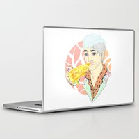 fitness Laptop & iPad Skins featuring His Fitness Regime by percieandbert